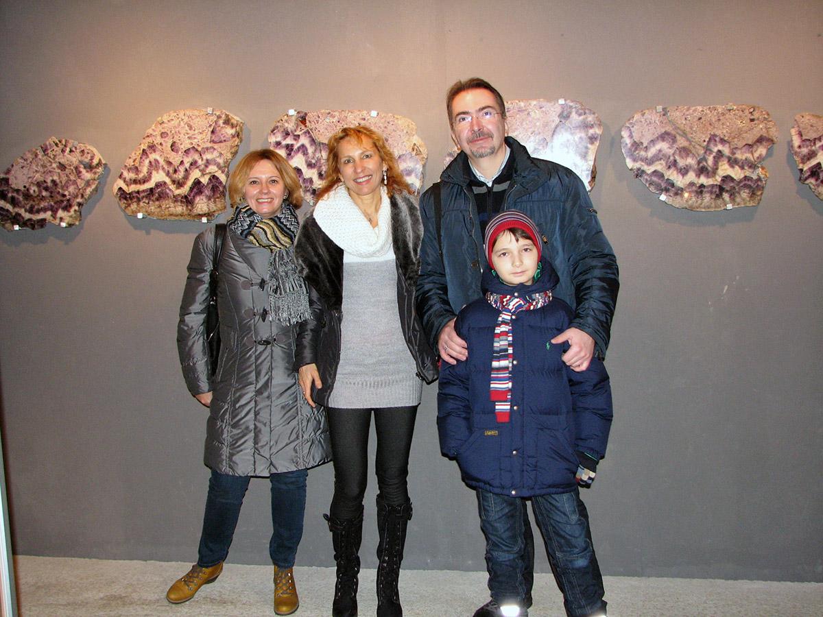 С семьей Гулых в музее Мир аметистов. Нижняя Австрия