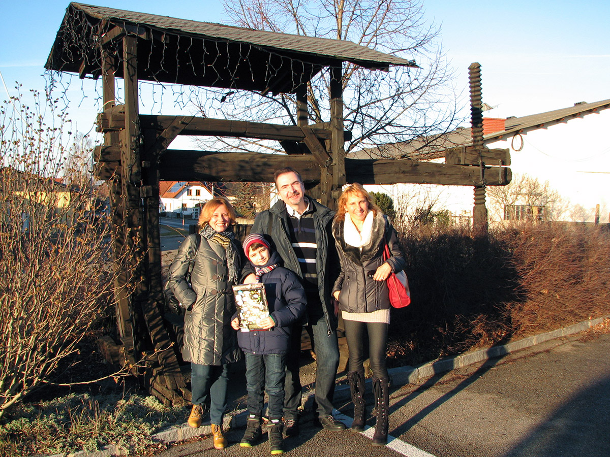 Семья Гулых в гостях у Друзей в Вене. Нижняя Австрия