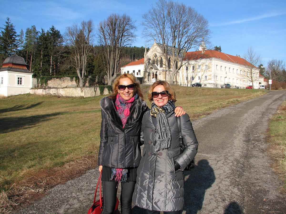 Возле знаменитого замка Майерлинг