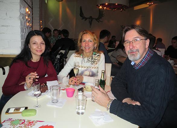 Оксана Полянская с Зиной и Питером Тауверс