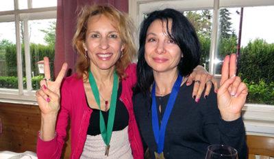 С Зиной Тауверс после Венского марафона
