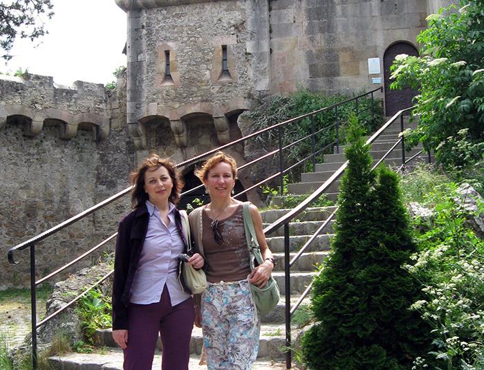 Оксана Полянская и Наталья Макарова в Замке Лихтенштейн в окрестностях Вены