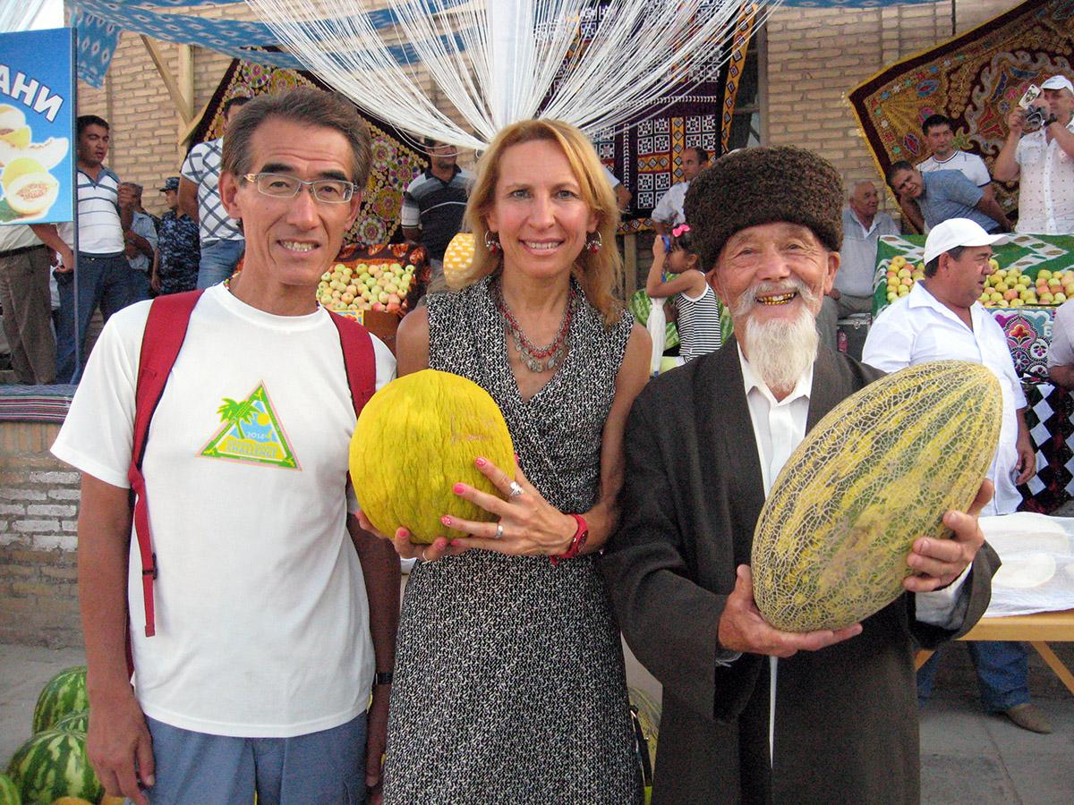 На празднике дыни, национальной узбекской гордости!