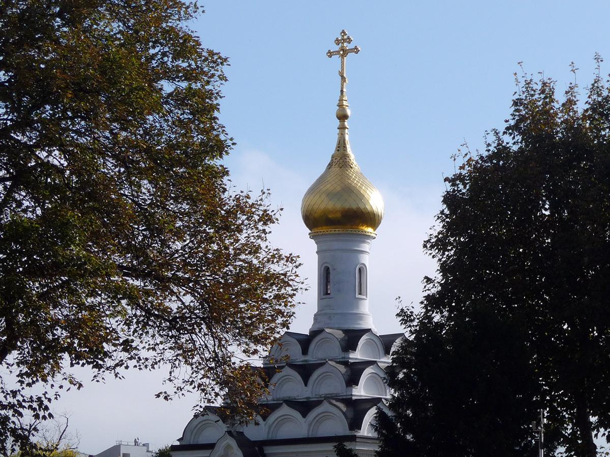 Православная часовня на Центральном кладбище