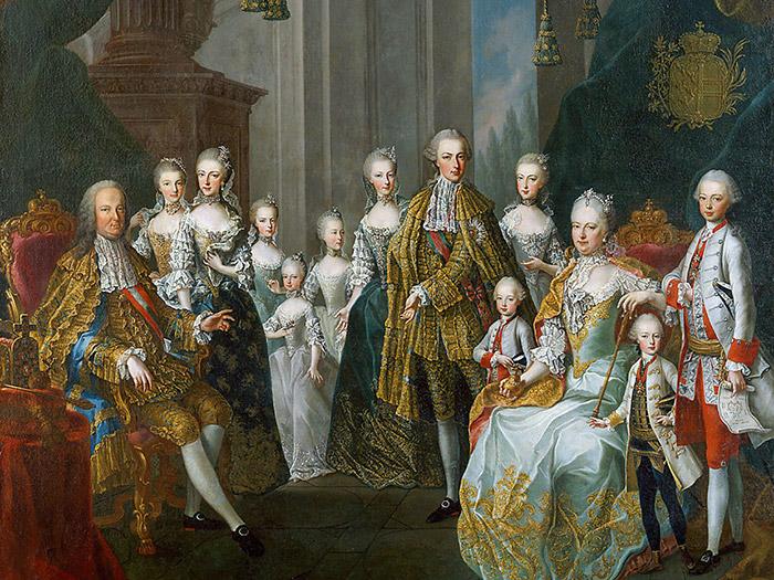 Знаменитый семейный портрет Марии Терезии и ее супруга Франца Штефана