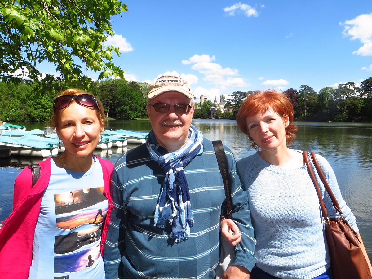 Оксана Полянская с гостями в живописном дворцово-парковом ансамбле Лаксенбург