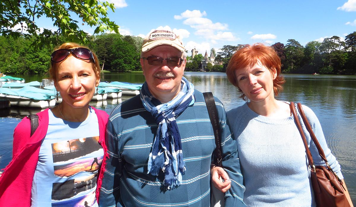 In Laxenburg. Oksana Polianskaja with guests