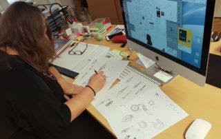 Дизайнер компании ЦИРО за работой
