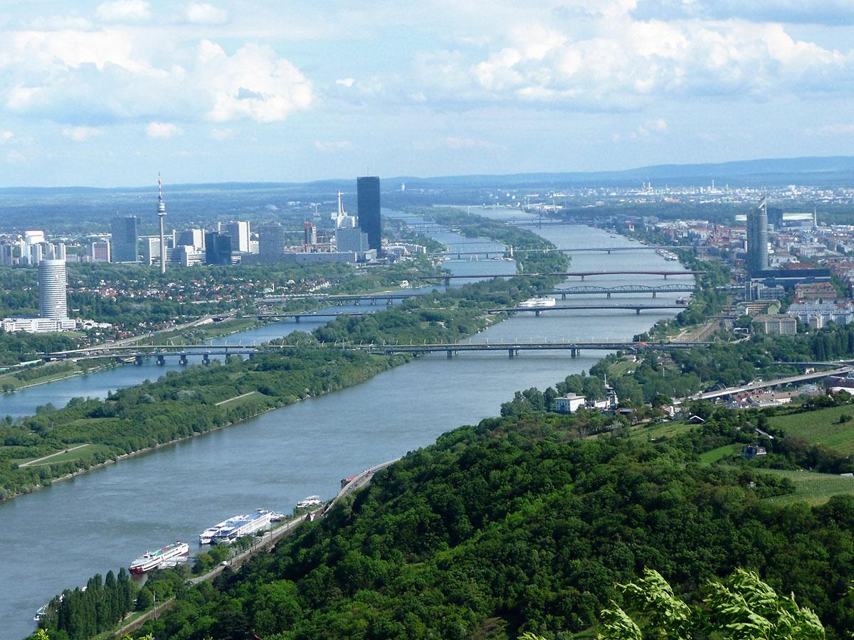 Вид на Дунай с горы Каленберг.