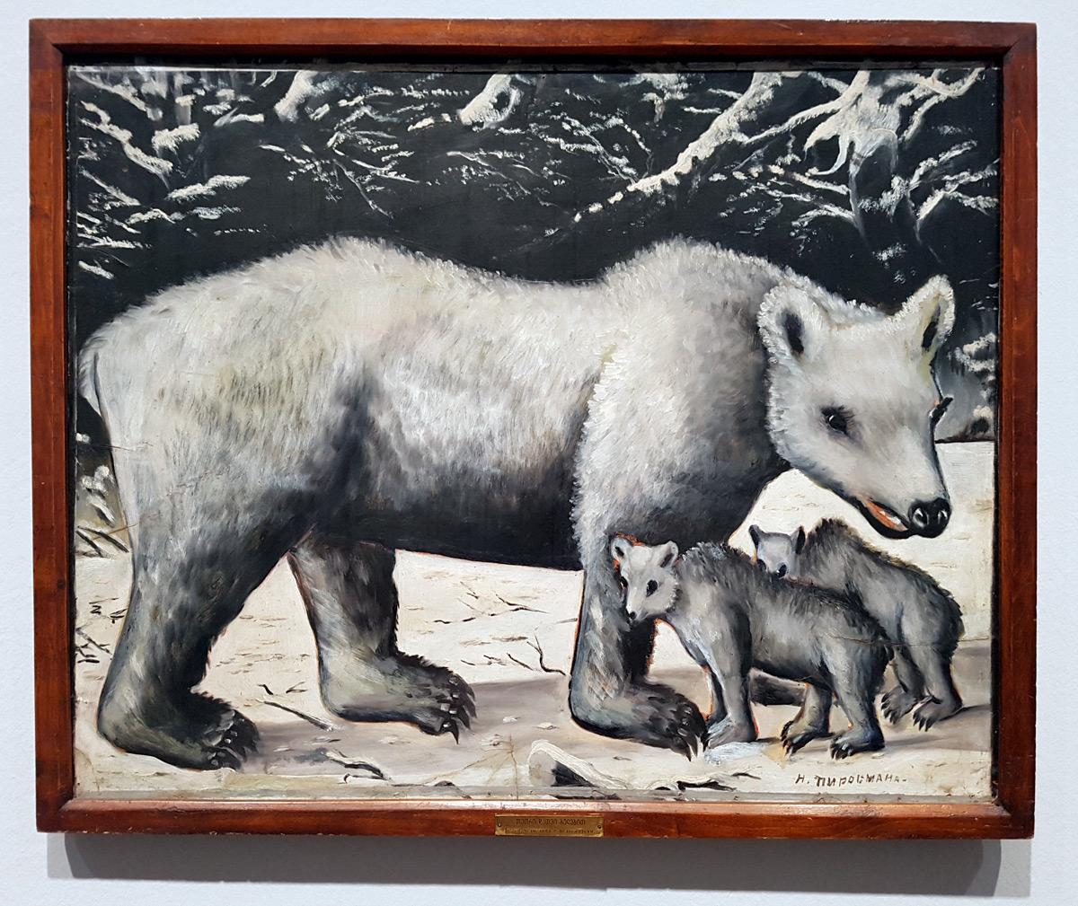 Eisbärweibchen mit ihren Jungen