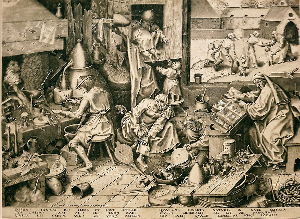 The Alchemist. Etching