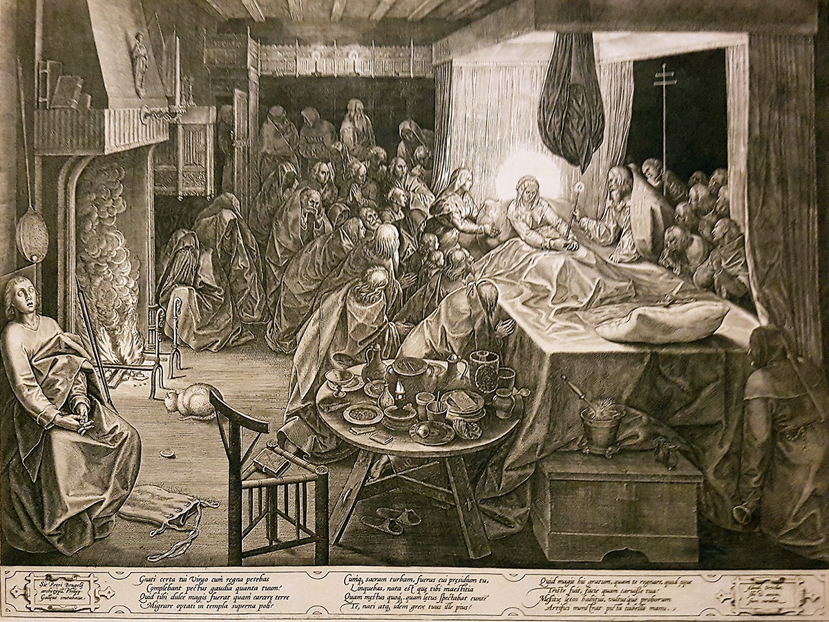 The Death of the Virgin. Etching